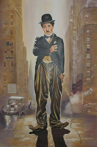 Doris Jordi, Charly Chaplin in New York, People: Men, Decorative Art