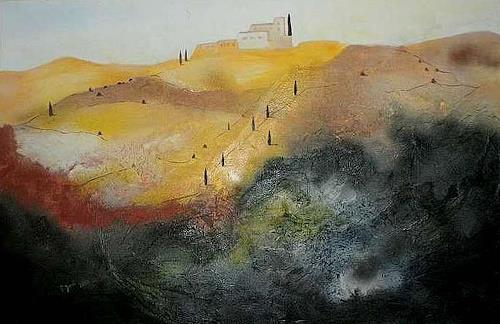Doris Jordi, Toscana I, Miscellaneous Landscapes, Decorative Art