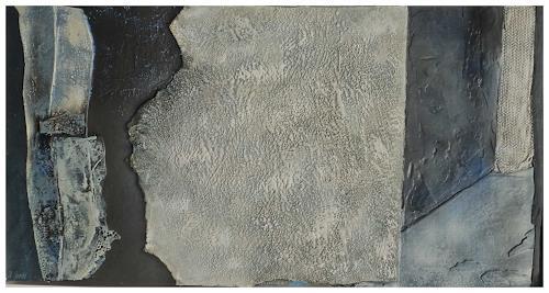 Doris Jordi, Spiel mit Bitumen und Feuer, Abstract art, Decorative Art