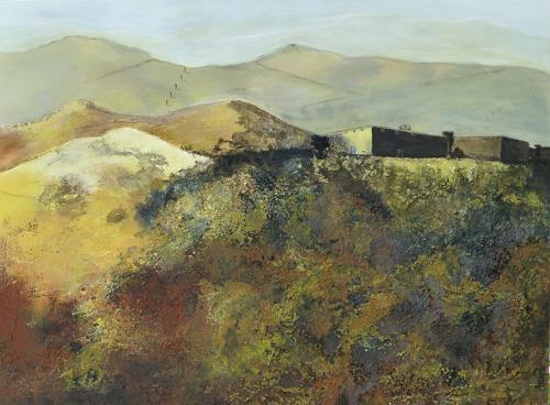 Doris Jordi, Castello Toscana, Landscapes: Mountains, Nature: Rock, Expressionism