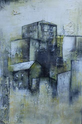 Doris Jordi, Dorf über den Felsen, Decorative Art