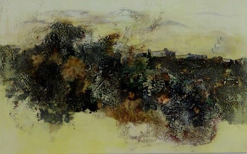 Doris Jordi, Toscana X, Decorative Art, Landscapes: Hills