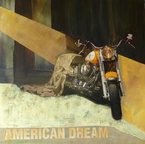 Doris Jordi, Harley Davidson, Traffic: Motorcycle, Leisure, Abstract Art