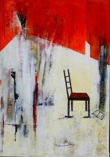 Doris Jordi, Lesepause, Leisure, Interiors, Abstract Expressionism