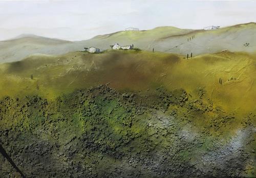 Doris Jordi, Toscana I, Landscapes, Landscapes: Hills, Expressionism
