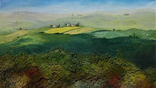 Doris Jordi, Toscana I, Nature: Miscellaneous, Landscapes: Hills, Land-Art, Expressionism