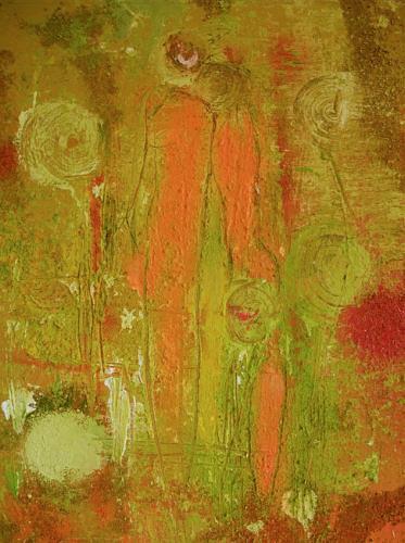 Dorothea Tlatlik, Begegnung im Garten Eden, Abstract art, People: Group