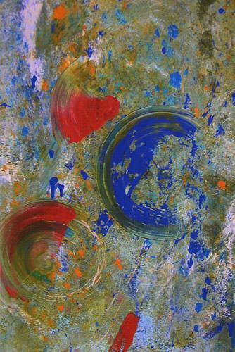 Dorothea Tlatlik, Das Orakel, Abstract art, Expressionism