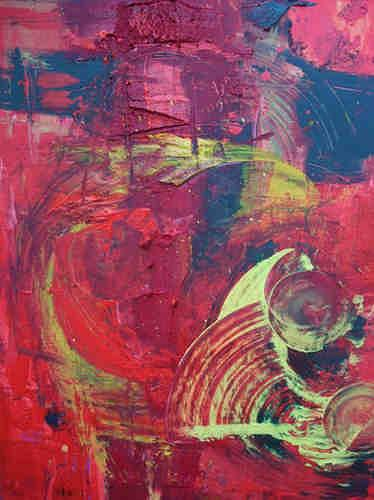 Dorothea Tlatlik, Die Himmelsleiter, Abstract art