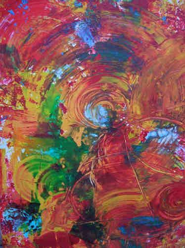 Dorothea Tlatlik, Wohin geht die Reise ?, Abstract art