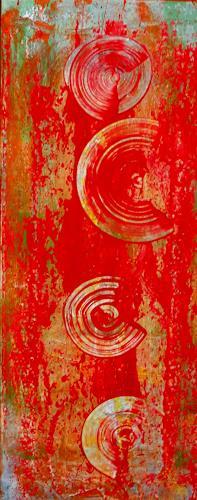 Dorothea Tlatlik, red rain, Abstract art, Fantasy, Abstract Art