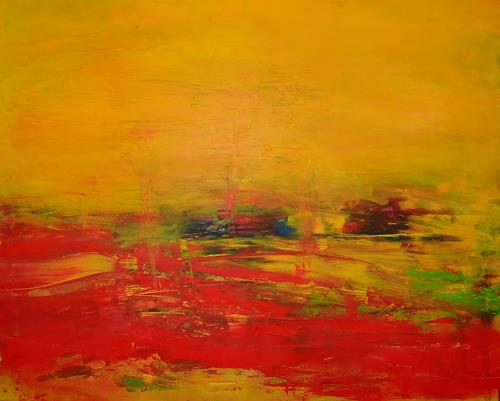 Dorothea Tlatlik, rotes Land, Abstract art, Landscapes: Plains, Abstract Art
