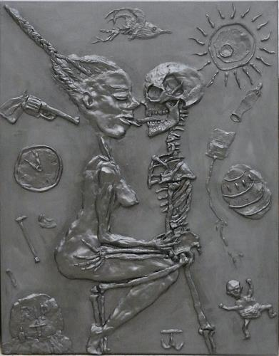 Thomas Winkler, Lebens vs Todeskuss, Miscellaneous Erotic motifs, Death/Illness, Abstract Expressionism