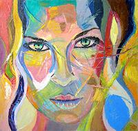 Eduard-Fleminsky-Abstract-art-People-Faces-Modern-Age-Expressive-Realism